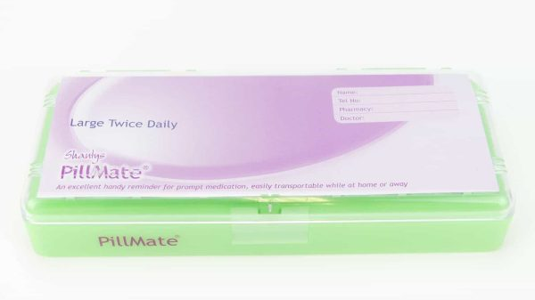 Large Twice Daily Pill Box Dispenser Weekly - Shantys Pillmate - 10