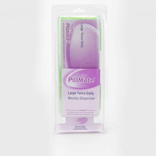 Large Twice Daily Pill Box Dispenser Weekly - Shantys Pillmate - 3