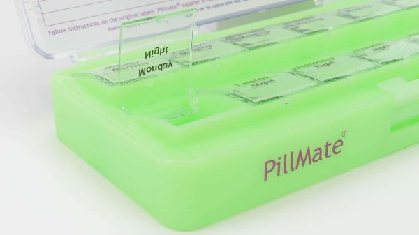 Large Twice Daily Pill Box Dispenser Weekly - Shantys Pillmate - 7