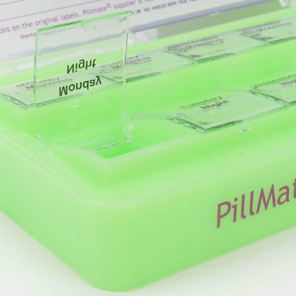 Large Twice Daily Pill Box Dispenser Weekly - Shantys Pillmate - 7