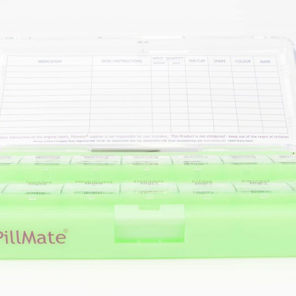 Large Twice Daily Pill Box Dispenser Weekly - Shantys Pillmate - 8