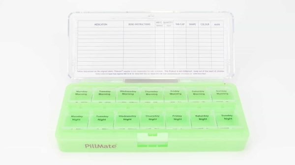 Large Twice Daily Pill Box Dispenser Weekly - Shantys Pillmate - 9