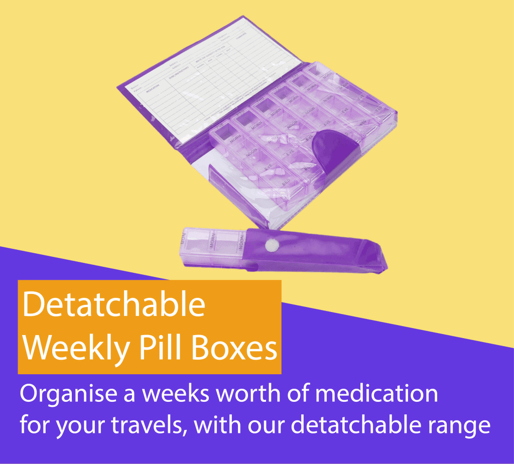 Shantys Detatchable Pill Boxes Weekly Medication