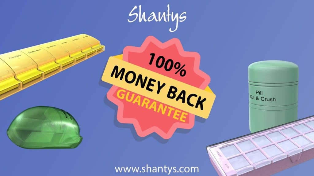 Shantys Pillboxes Medicine Tablets Storage Money Back Guarantee Pillbox 2