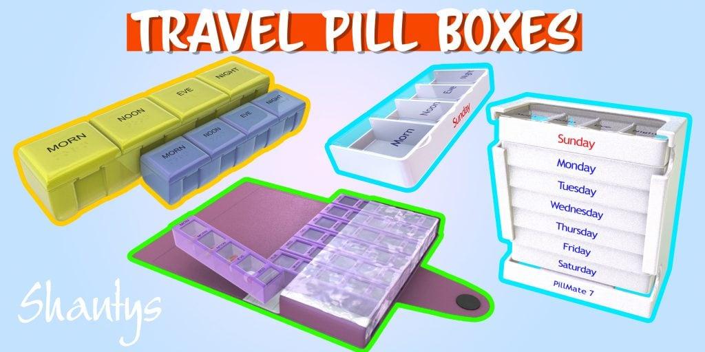 Travel Pill Box Selection Shantys