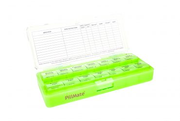 Large Size Pill Box With Two Daily Dose Compartments Shantys Pillmate Large Twice Medication Pill Box Tablets Organiser Daily 7 Days Pill Product Multi Dispenser Uk 419048